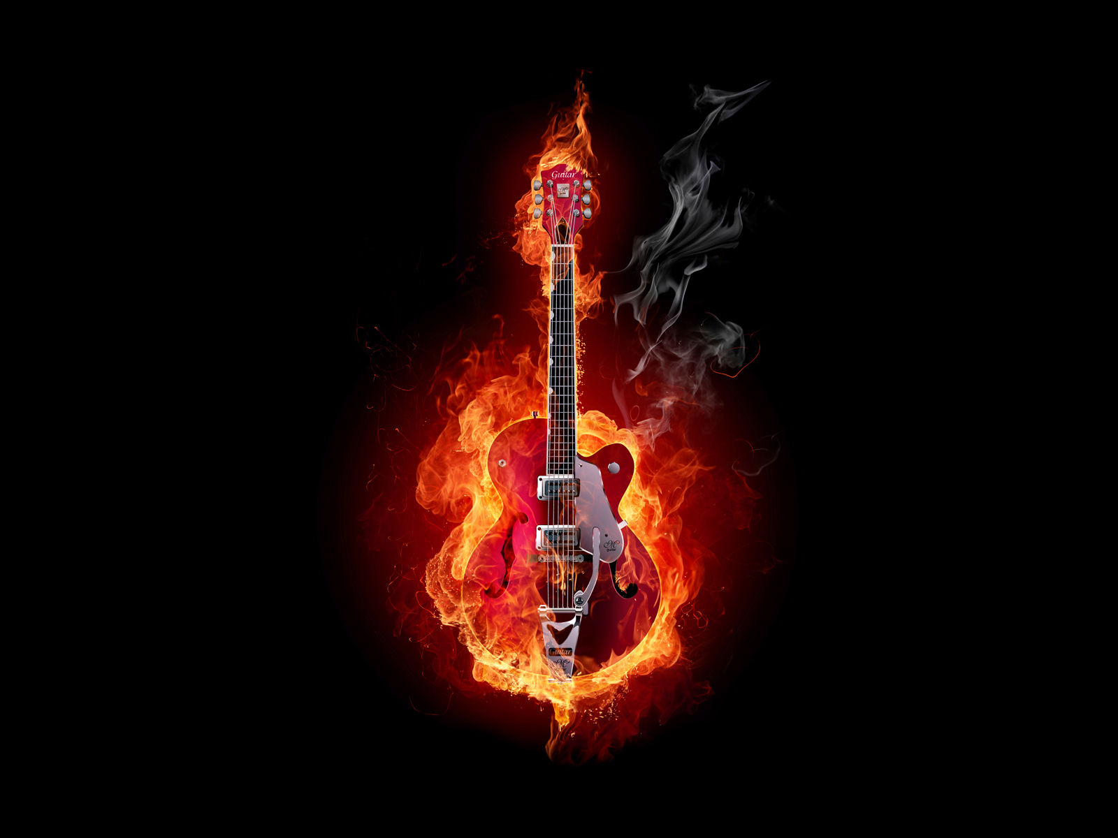 guitar on fire wallpapers - photo #8