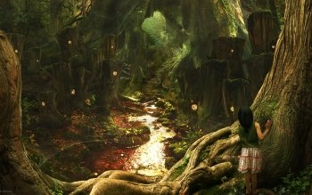 Fantasy - Forest Wallpapers and Backgrounds ID : 145203
