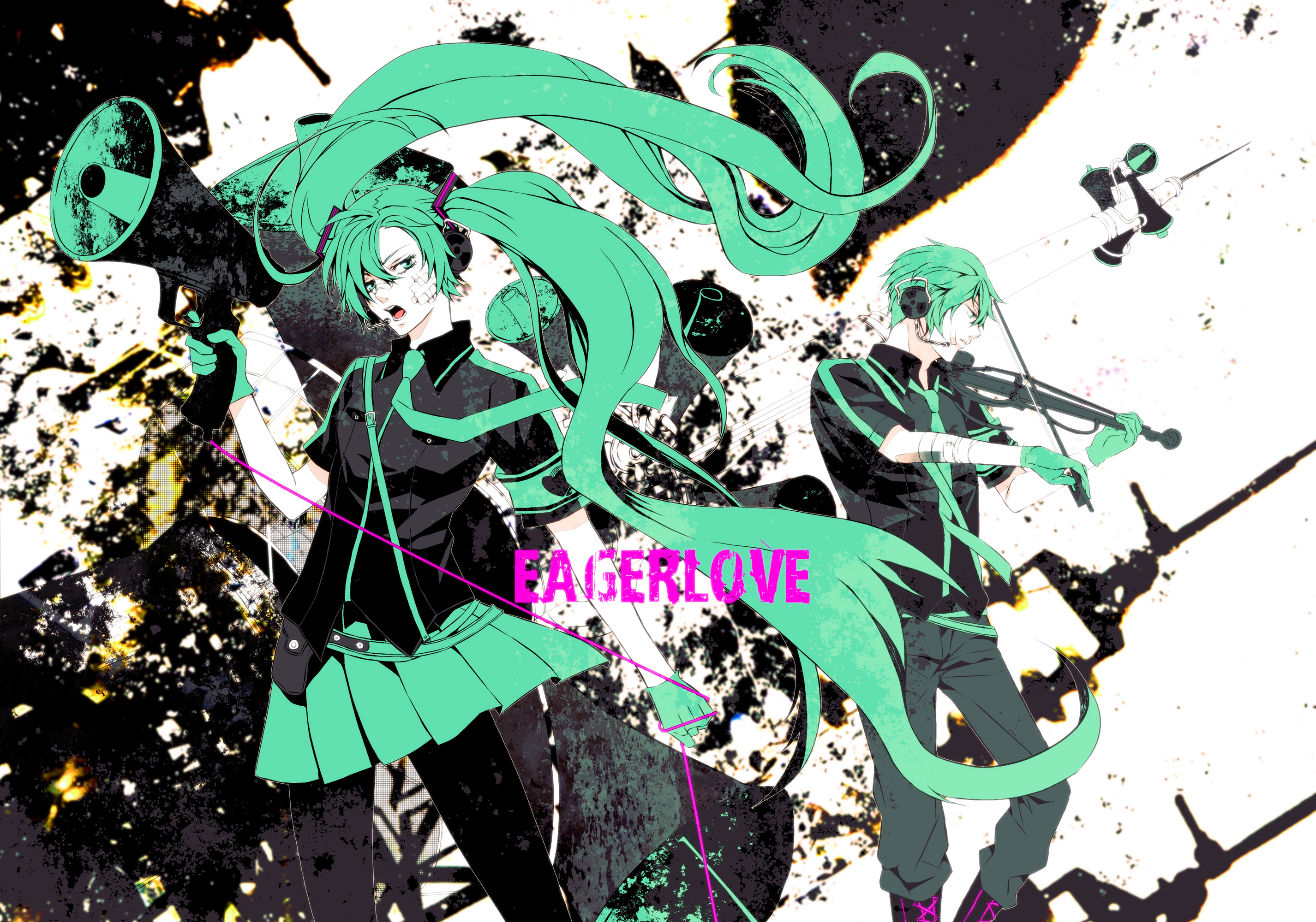 Vocaloid hd wallpaper background image 2852x2000 id - Anime war wallpaper ...