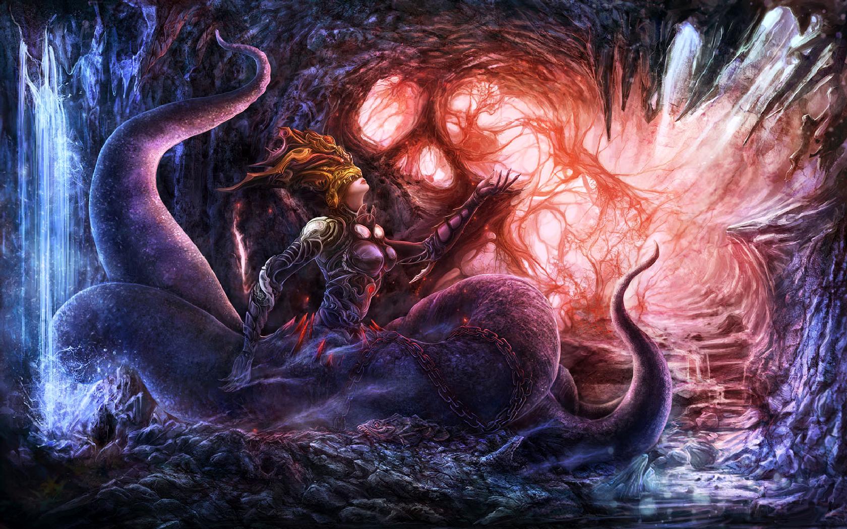 Dunkel - Monster  Wallpaper