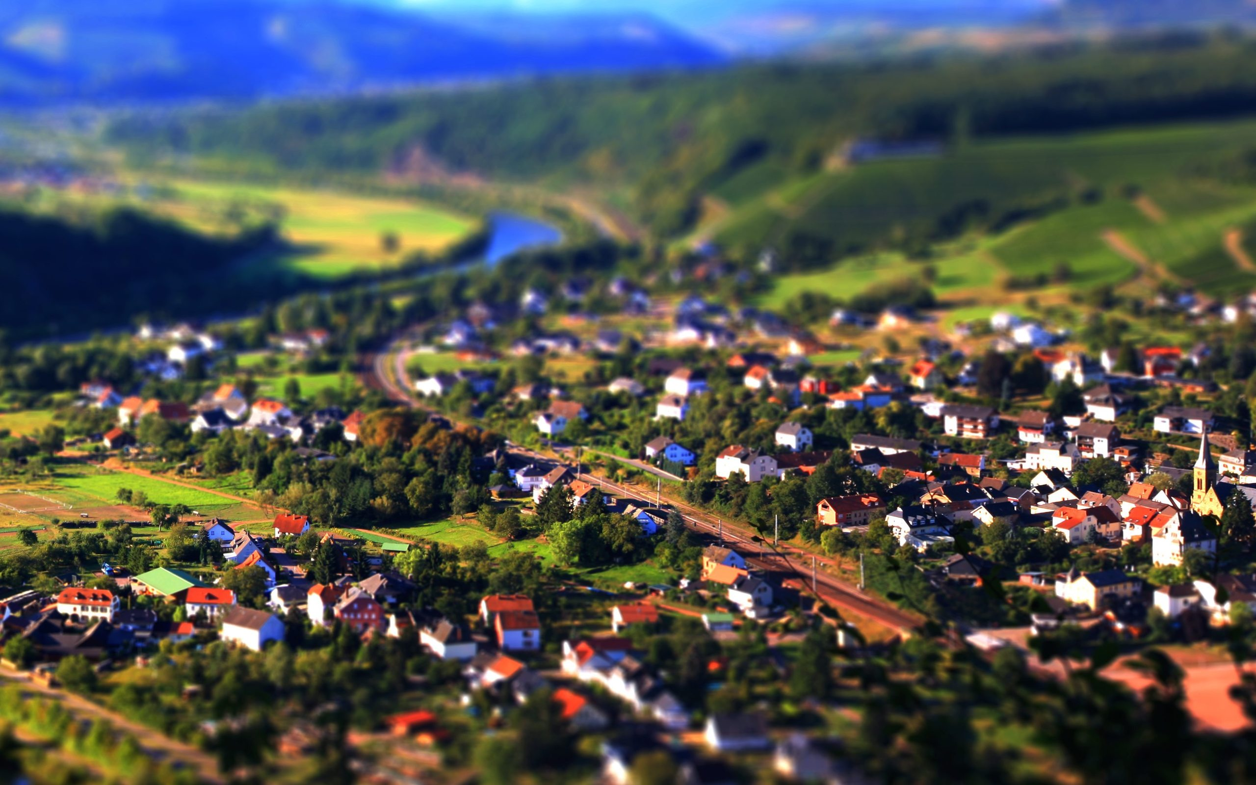 Tilt Shift HD Wallpaper
