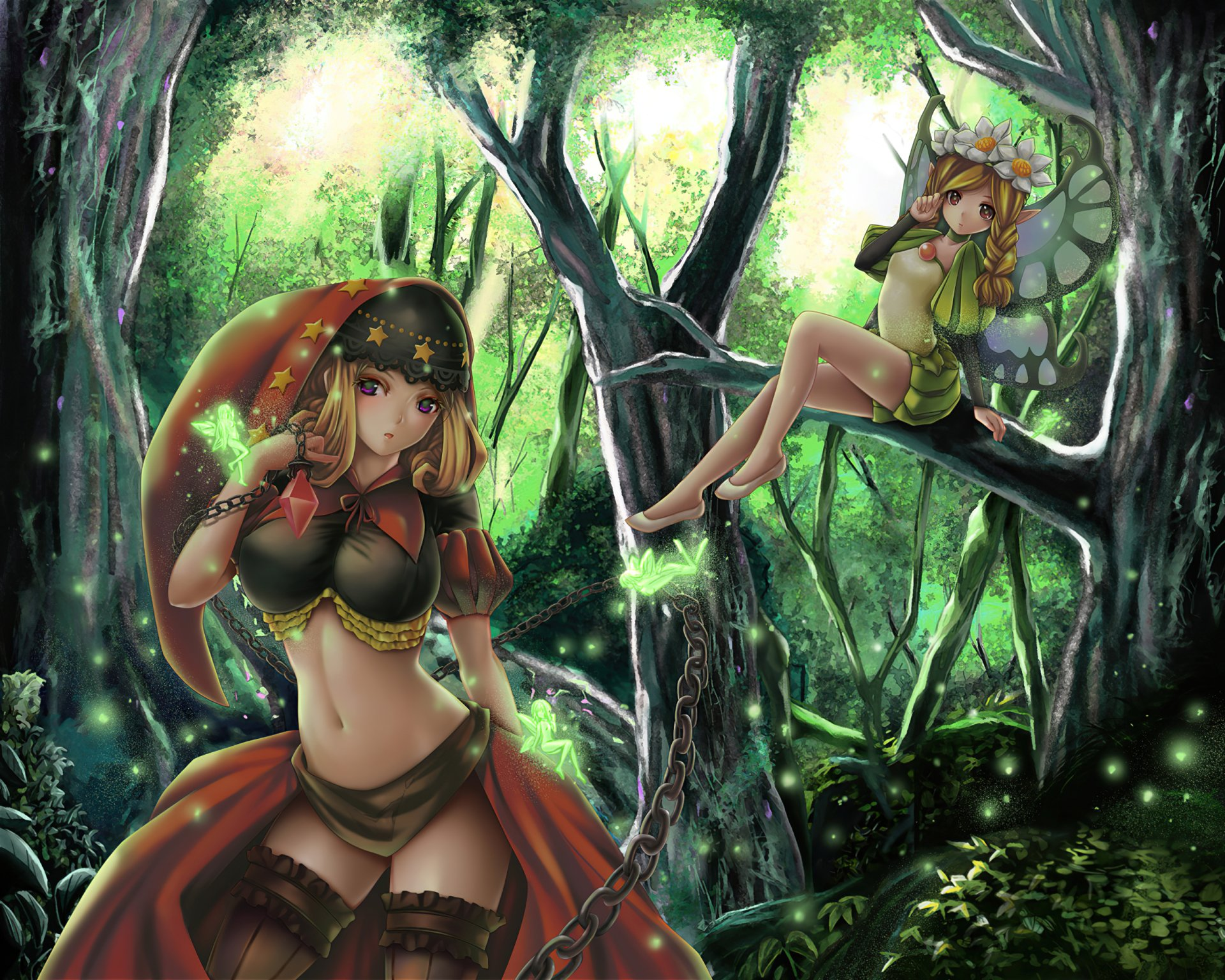Anime - Unknown  Fairy Forest Fantasy Wallpaper