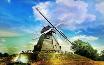 Man Made - Windmill Wallpapers and Backgrounds ID : 151291