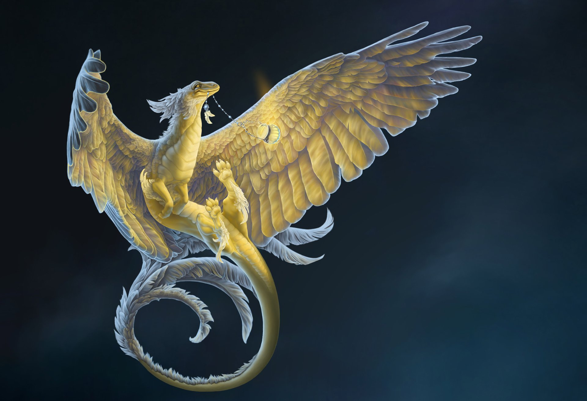 Fantasy - Dragon  Fantasy Creature Wallpaper
