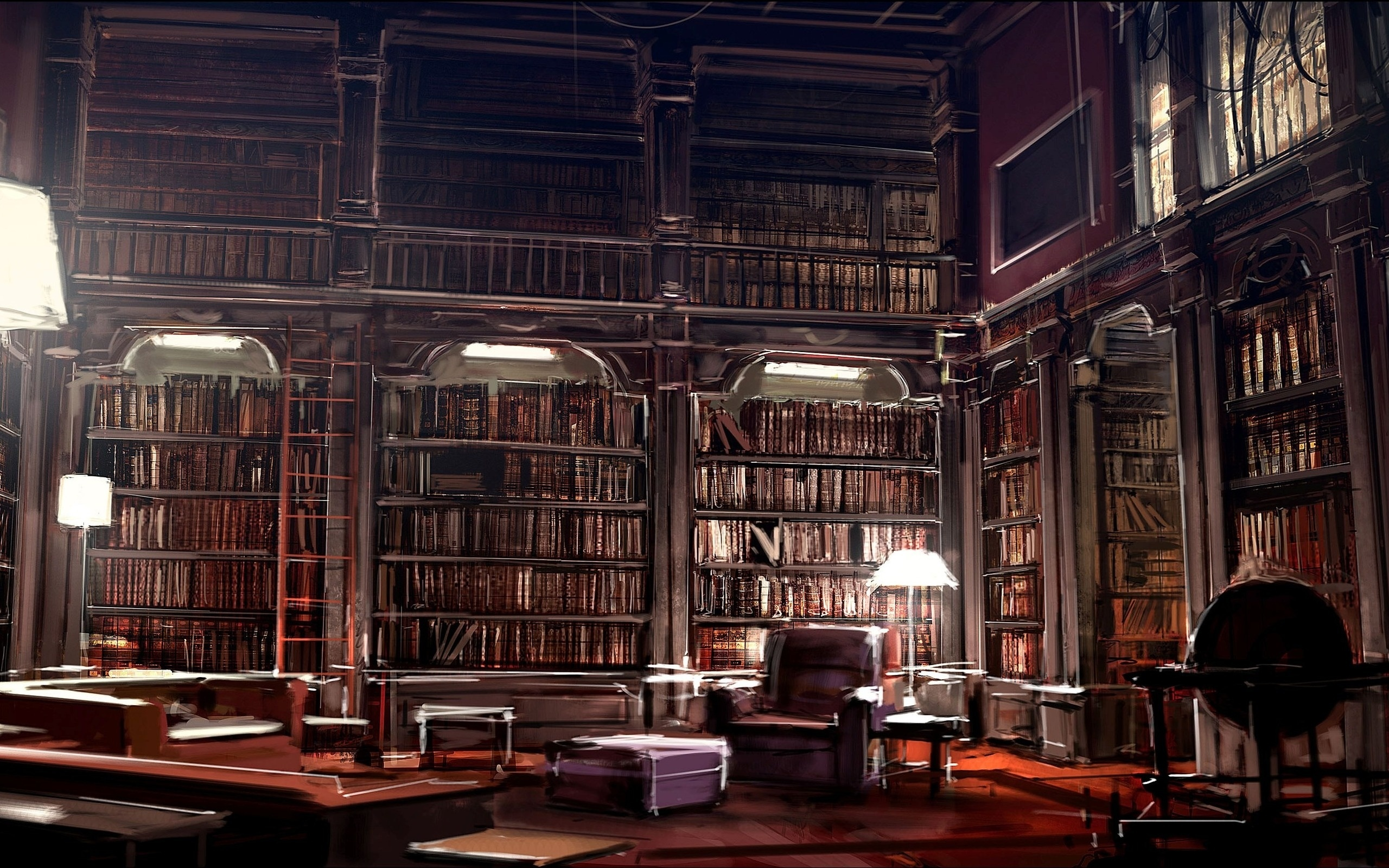 Hogwarts Library By J K Rowling Hd Wallpaper Background