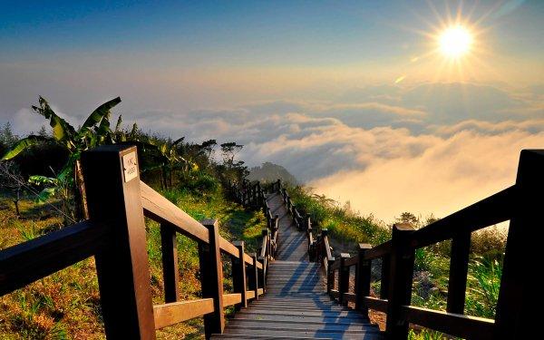 Fotografía HDR Amanecer Niebla Nube Sol Tropico Fondo de pantalla HD | Fondo de Escritorio