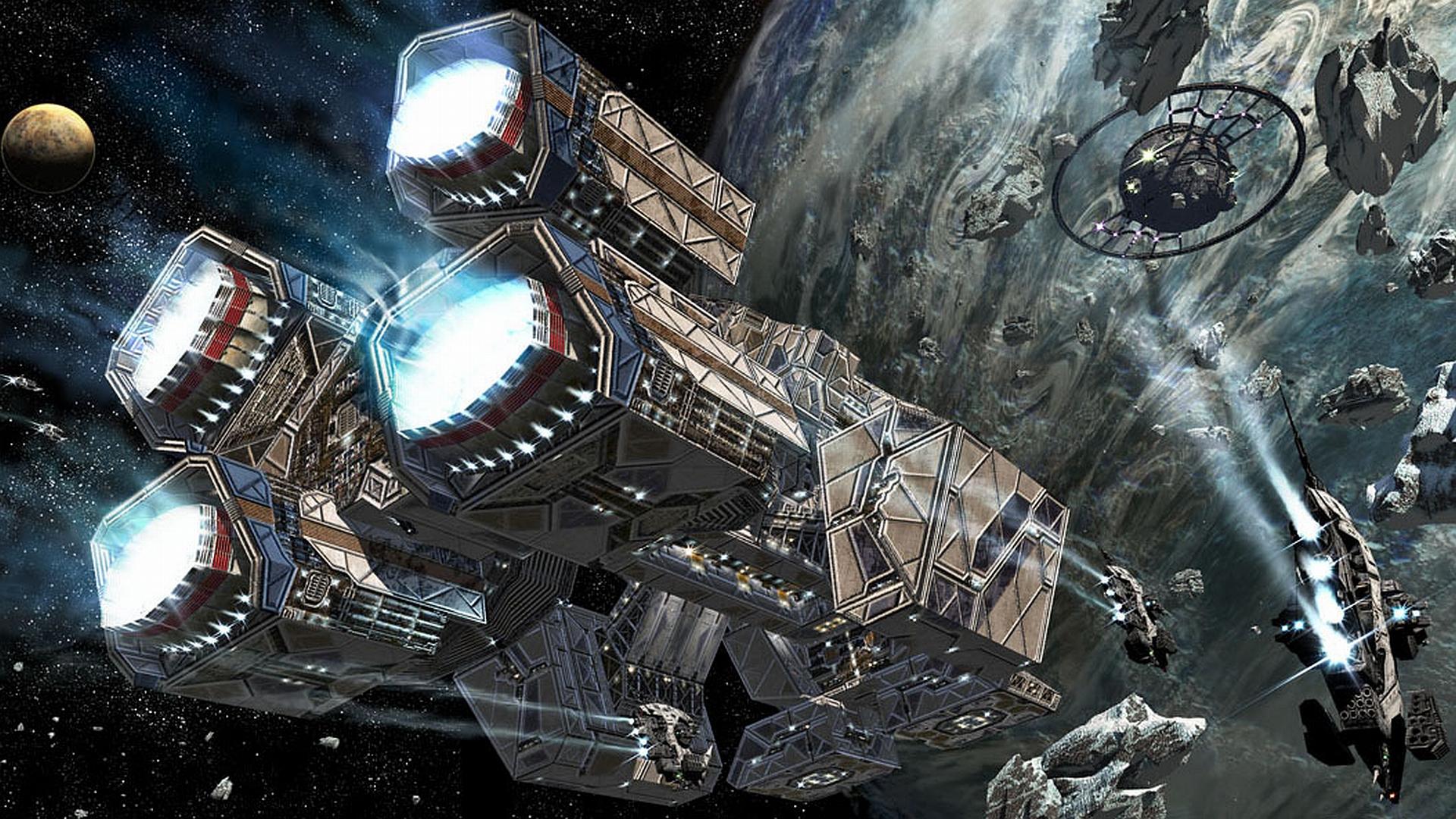 Space Warship Wallpaper