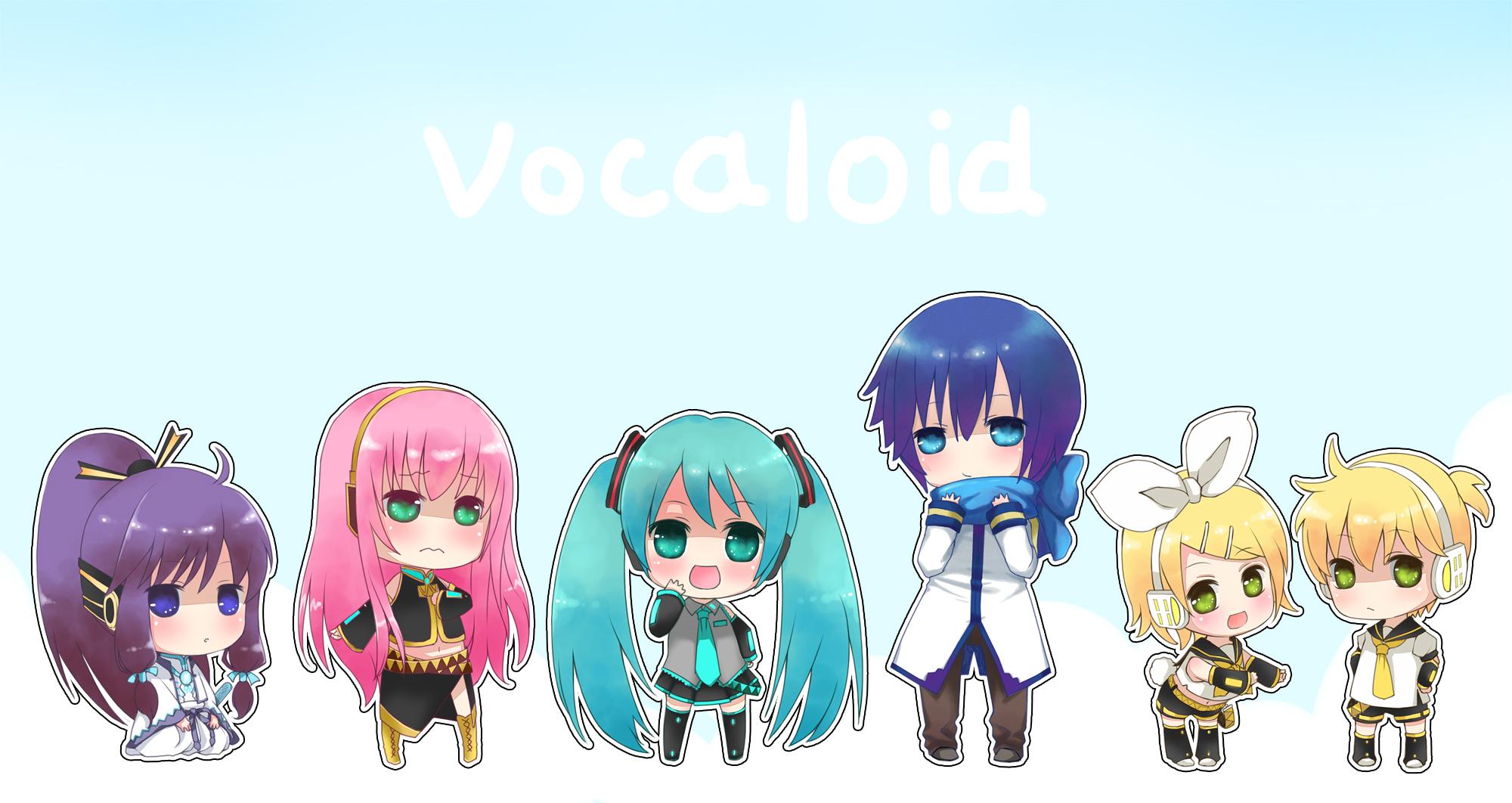 Vocaloid Chibi Group Wallpaper Chibi Group Computer W...