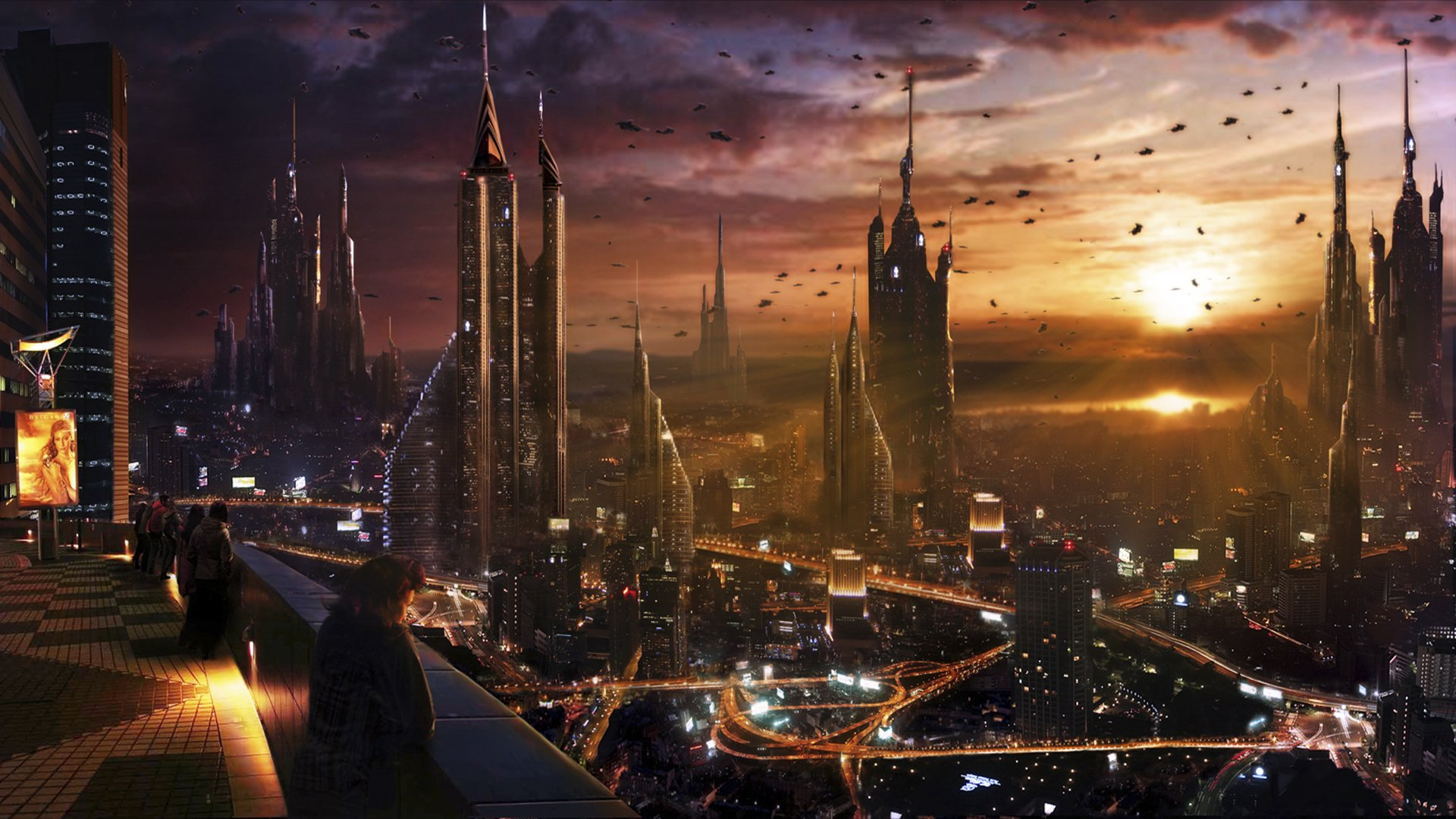 Sci Fi - City  Cityscape Wallpaper