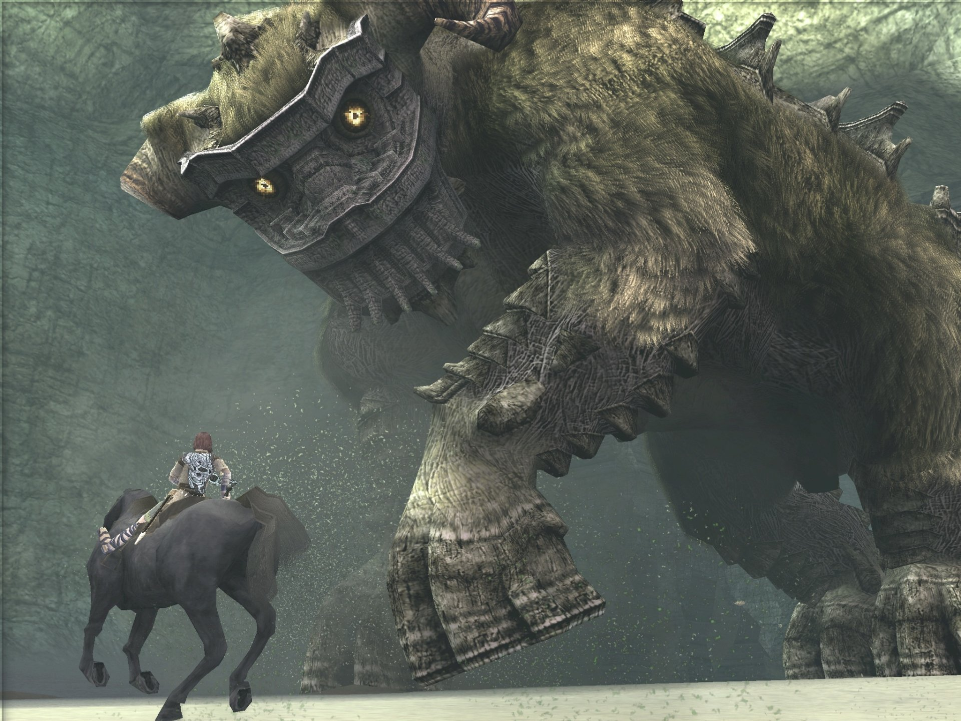 Video Game - Shadow Of The Colossus  Girl Horse Creature Wallpaper