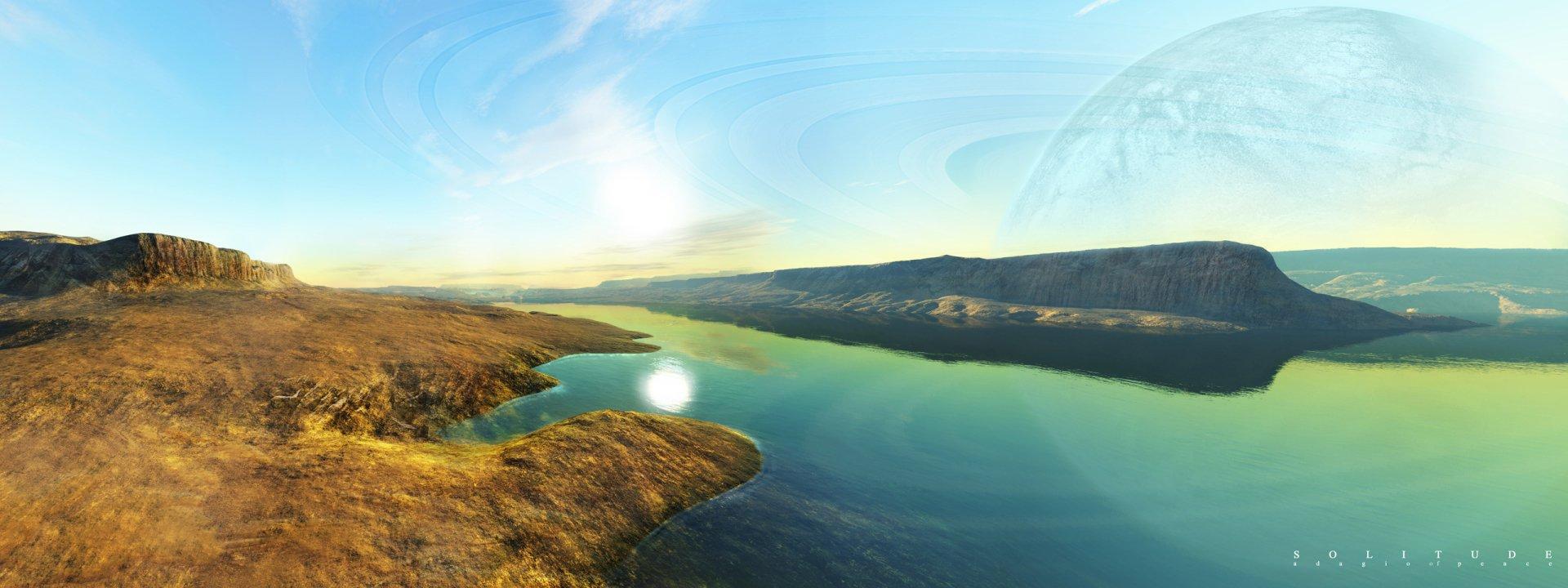 Multi Monitor - Erde/Natur  Ozean Planet Sonne Landschaft Wallpaper