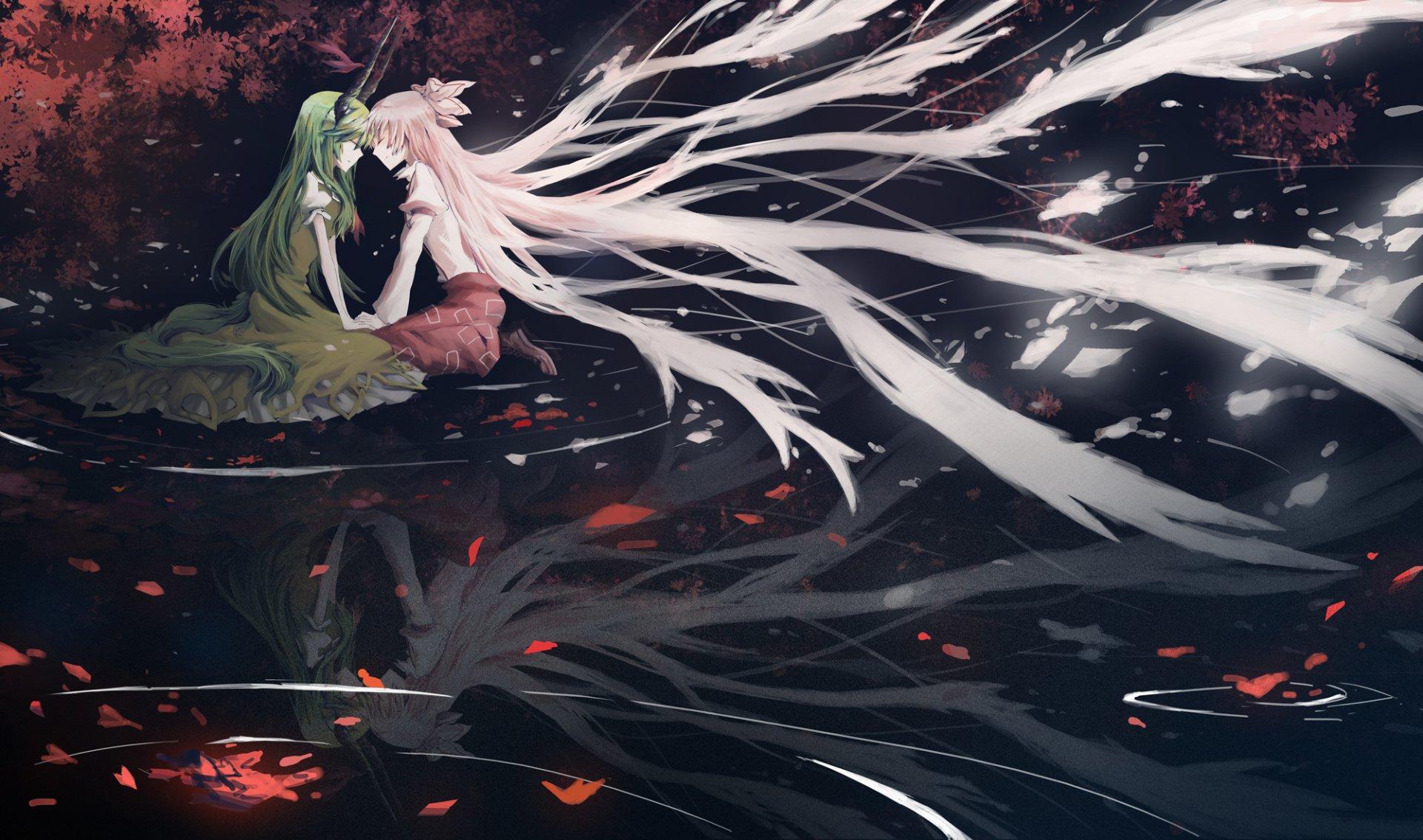 Anime - Touhou  Keine Kamishirasawa Fujiwara No Mokou Wallpaper