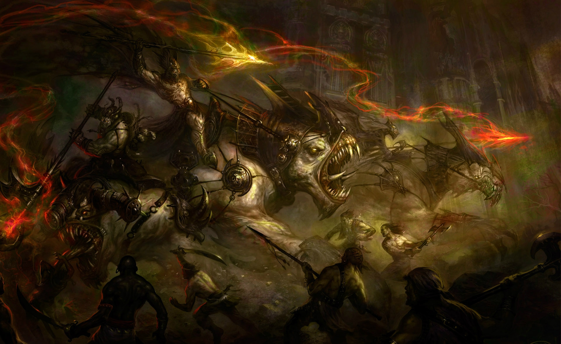 the art of war hd fantasy battle scene wallpapers
