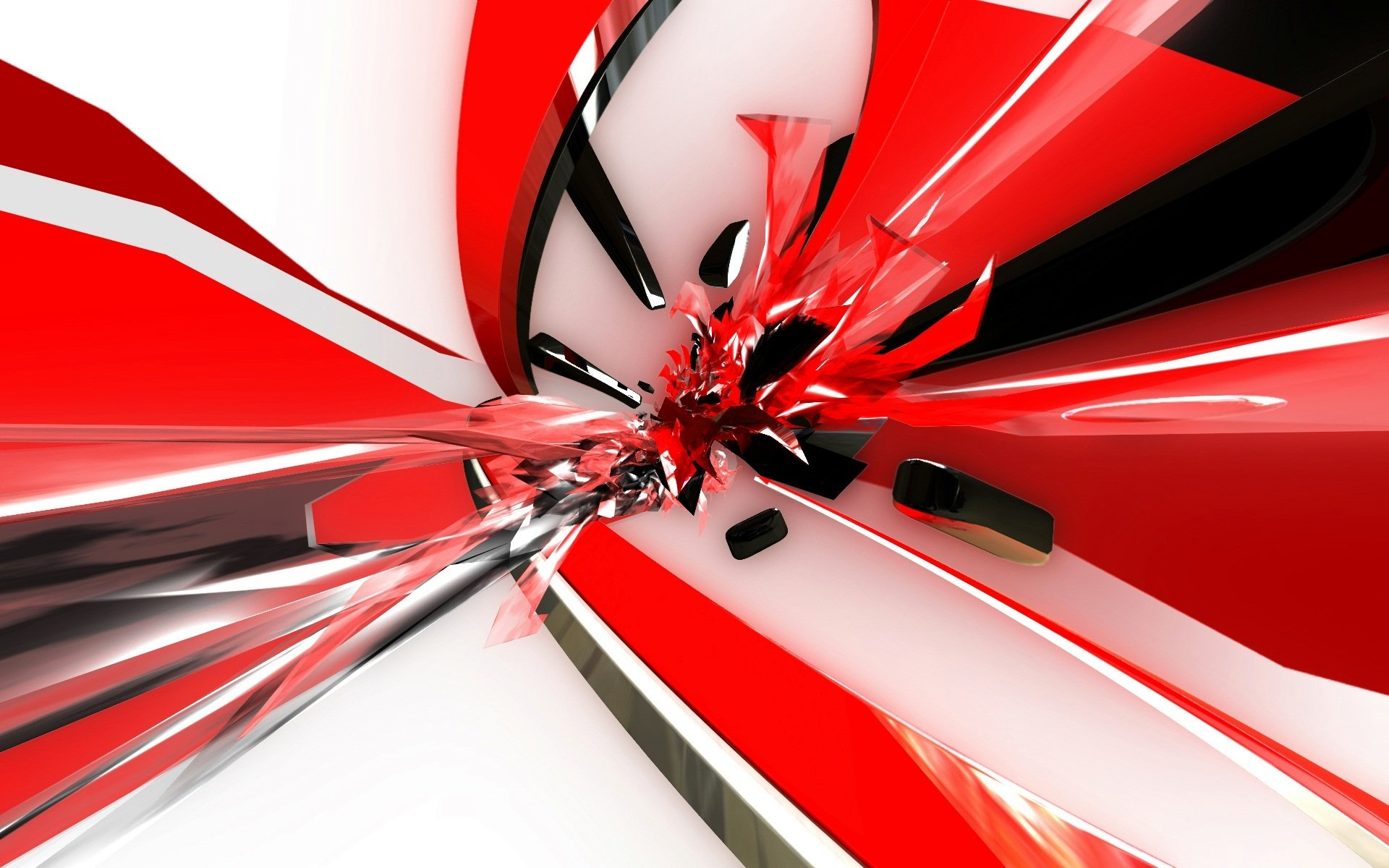 Abstract - Red  White Wallpaper
