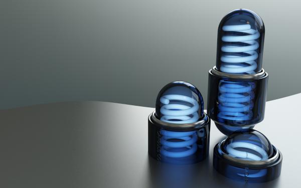 Artistic Digital Art Light Bulb HD Wallpaper | Background Image