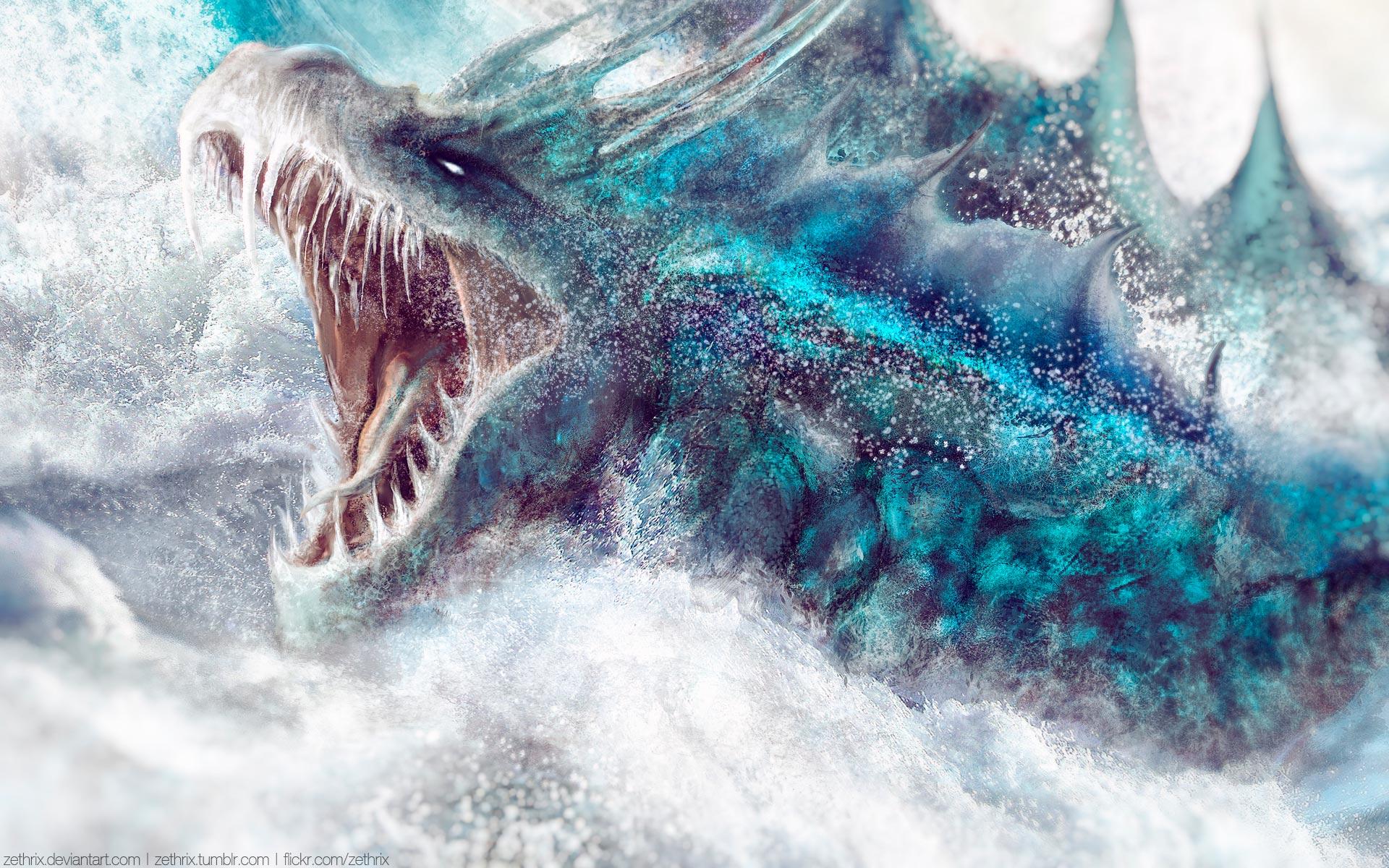 Fantasy - Dragon  Fog Elemental Wallpaper
