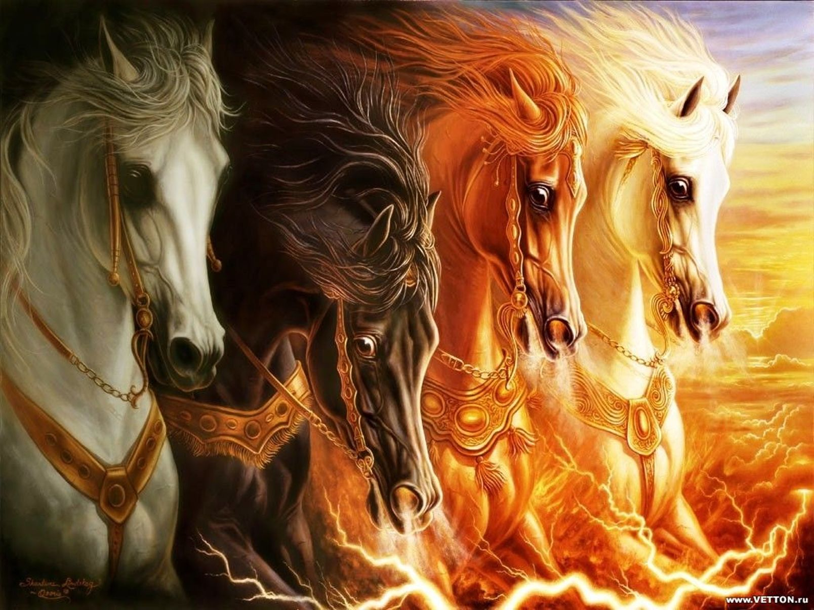 Dark - Other  Dark Creature Horse Horsemen Horsemen Of Apocalypse Wallpaper