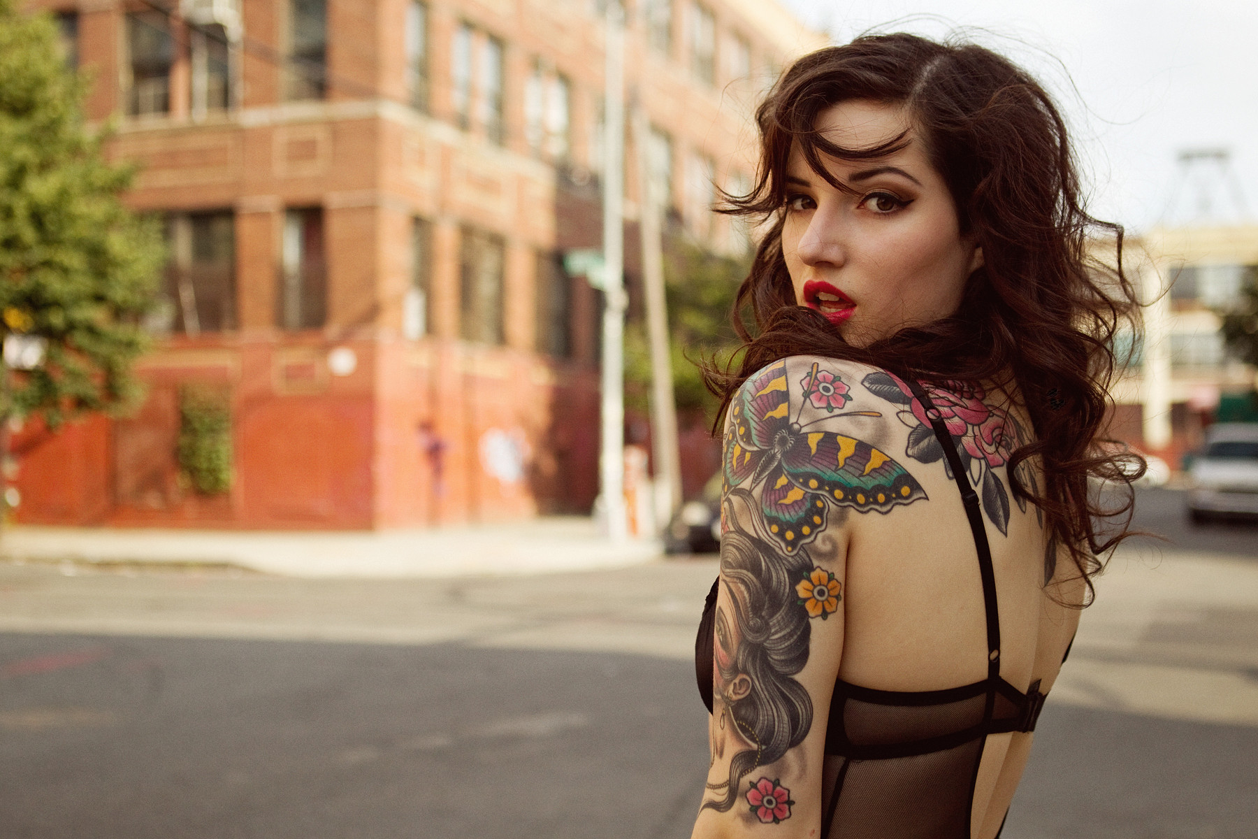 Women - Gothic  Woman Beautiful Tattoo Wallpaper