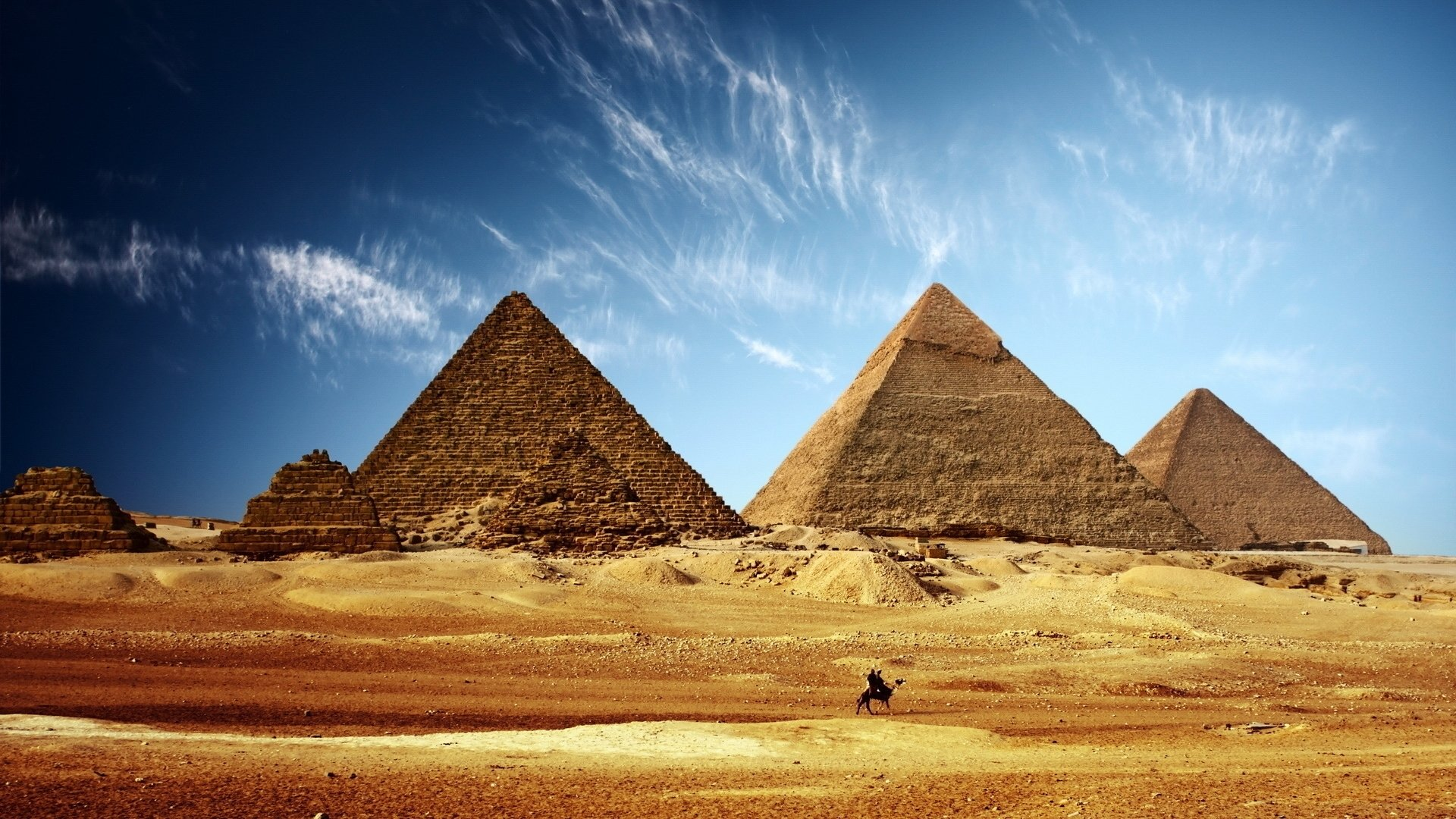 Egyptian Pyramids HD Wallpaper | Background Image | 1920x1080 | ID ...