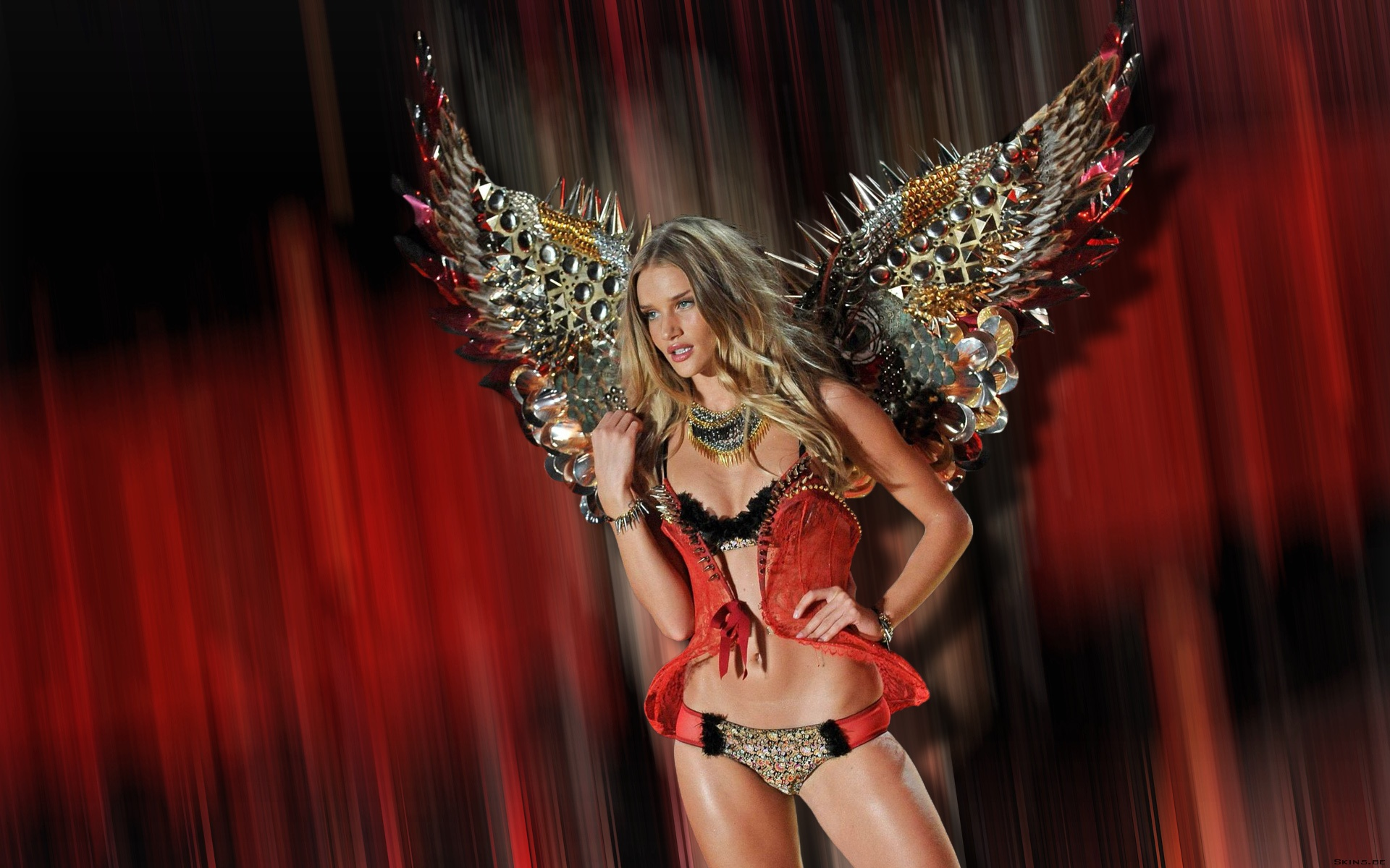 Rosie Huntington Whiteley Victoria S Secret 2012 Wallpaper