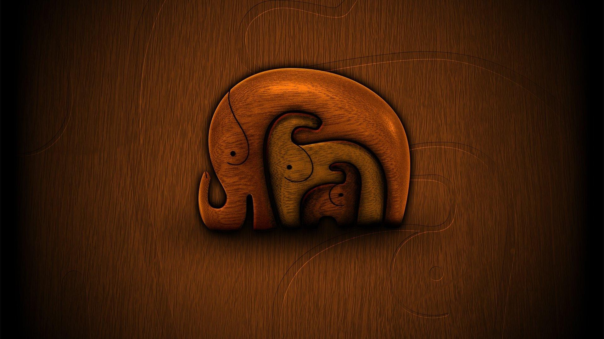 Muster - Elephant  Wallpaper