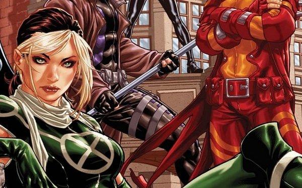 Comics X-Men Rogue Rachel Summers Gambit Two-Toned Hair HD Wallpaper   Background Image