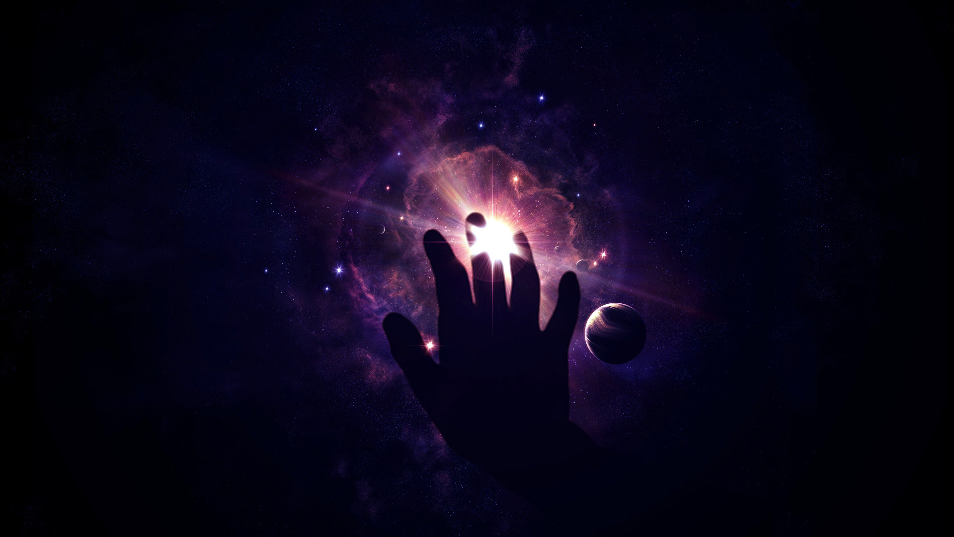 Can You Touch The Galaxy Hd Wallpaper Background Image