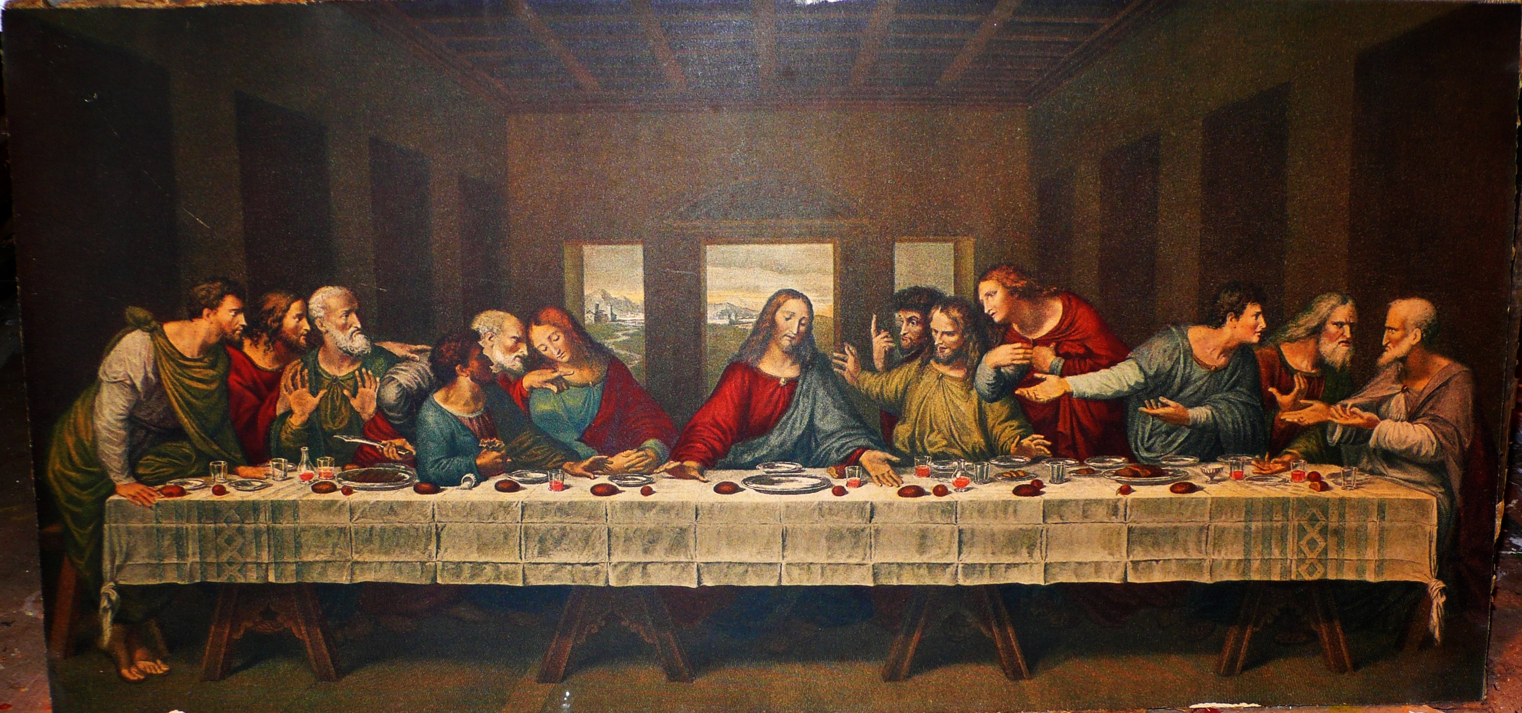 The Last Supper Hd Wallpaper Background Image 3103x1454 Id