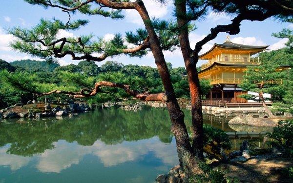 Religiös Kinkaku-ji Tempel Japanisch HD Wallpaper | Hintergrund