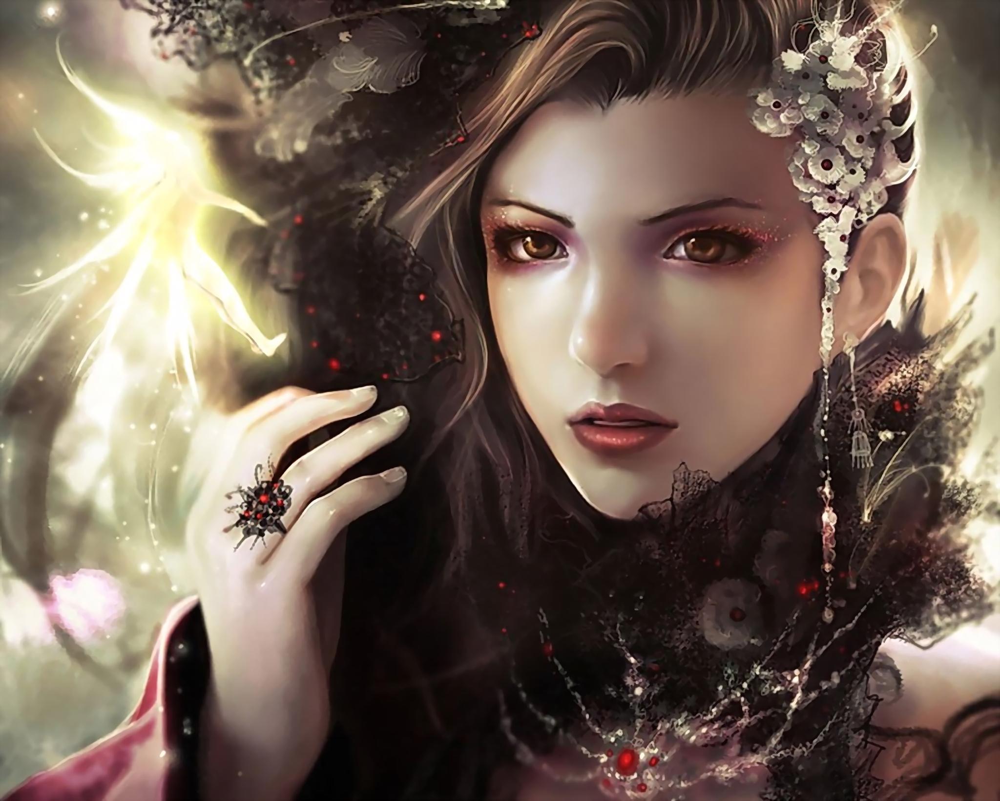 CGI - Vrouwen  Whisper Magie Superb! Wallpaper