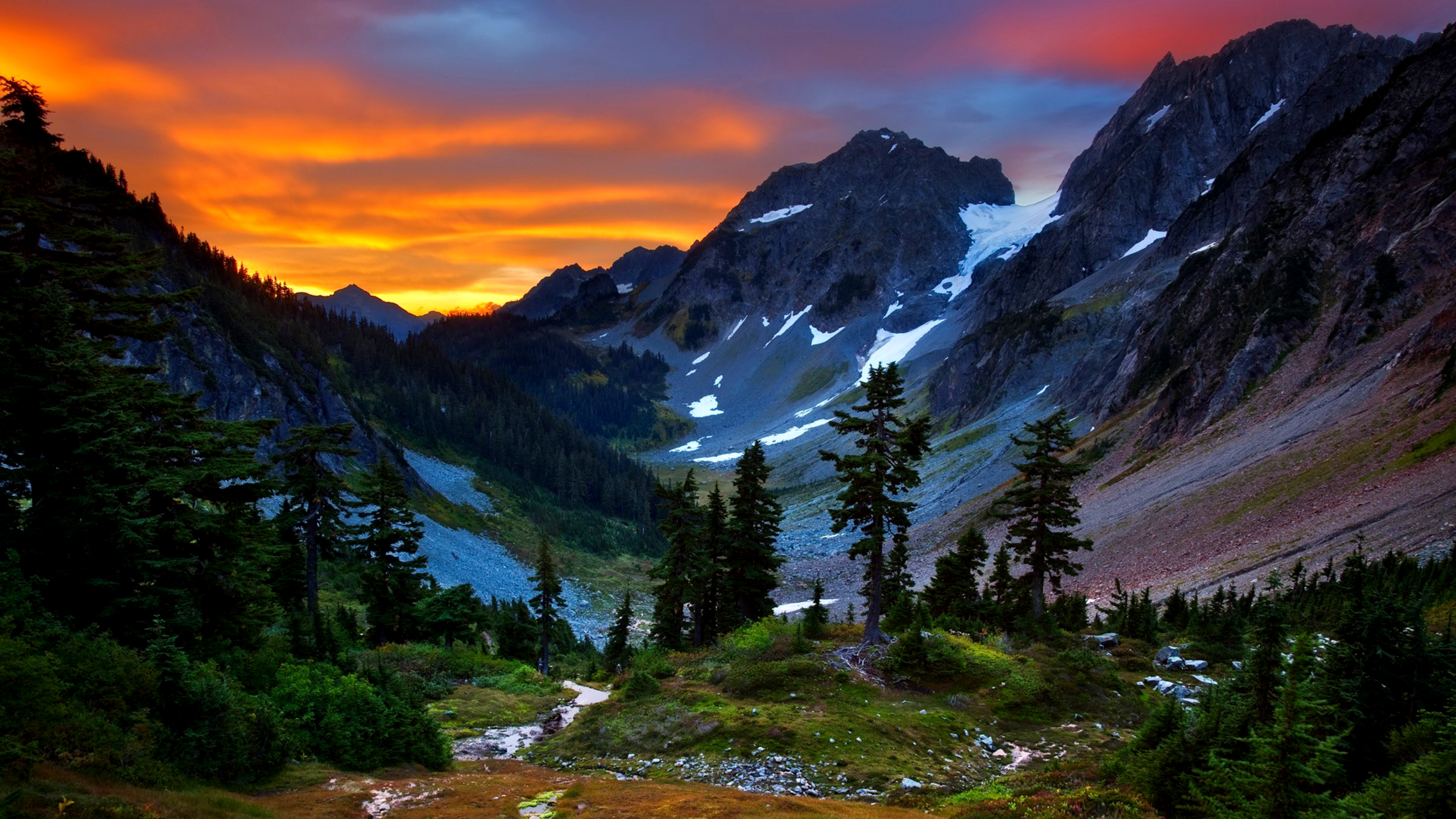 cool mountain backgrounds. Earth - Mountain Landscape Beautiful Valley Tree Sky Sunset Wallpaper Cool Backgrounds H