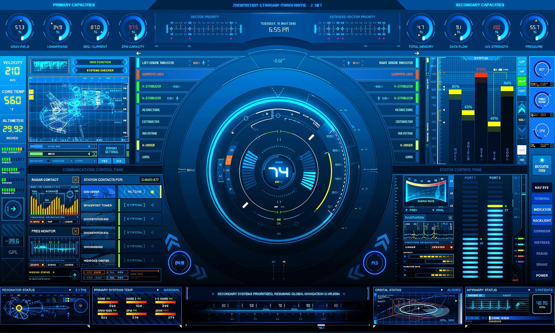 Sci Fi - Other  Interface Technology Screen Wallpaper