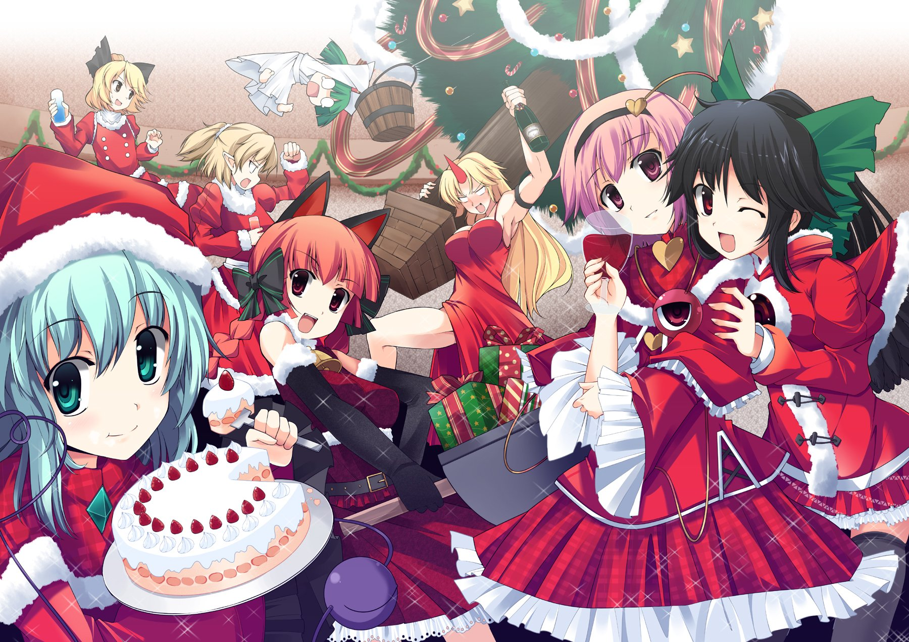 Epic party wallpaper and background image 1800x1273 - Anime christmas wallpaper ...