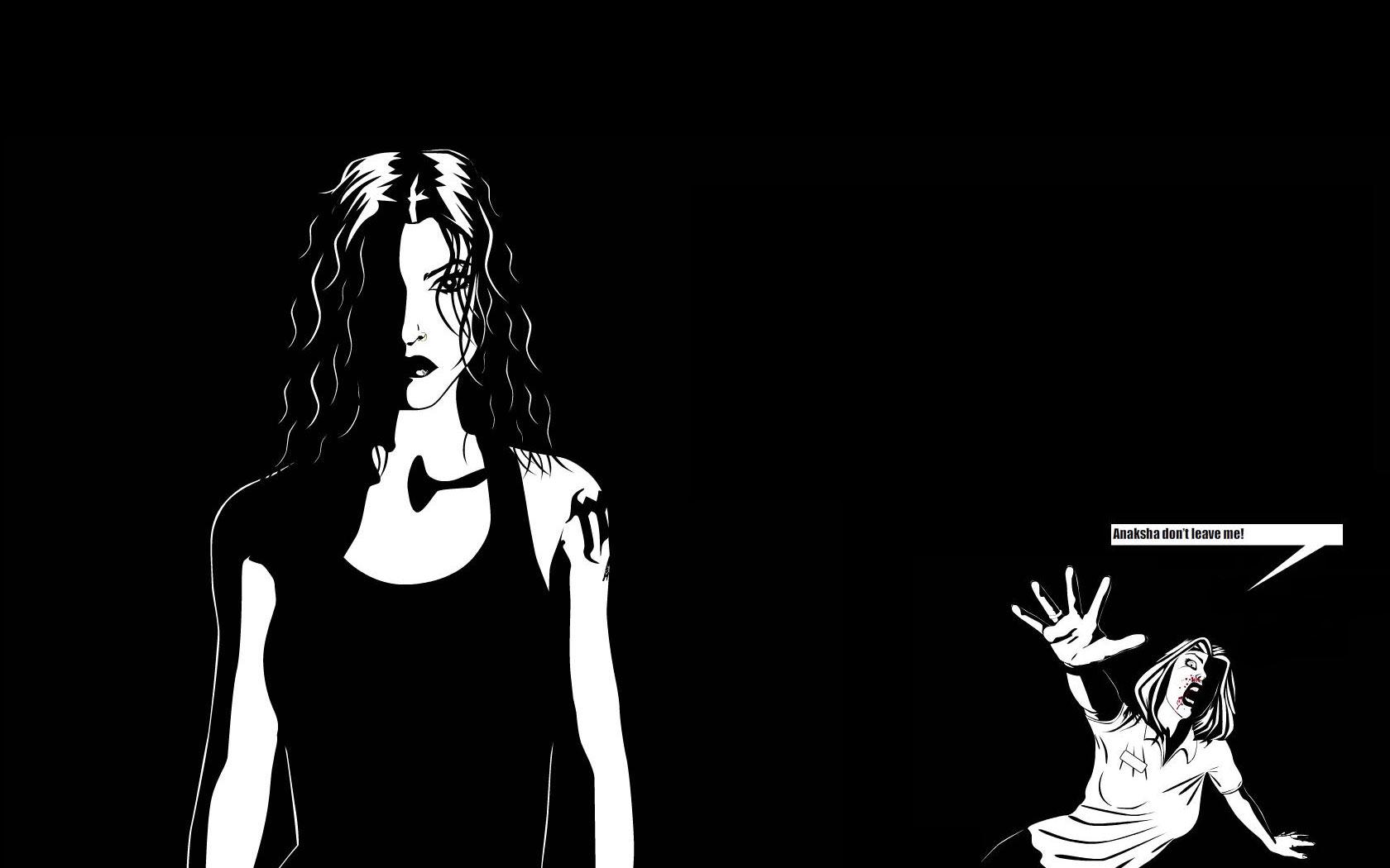 Video Game - Black & White  Wallpaper