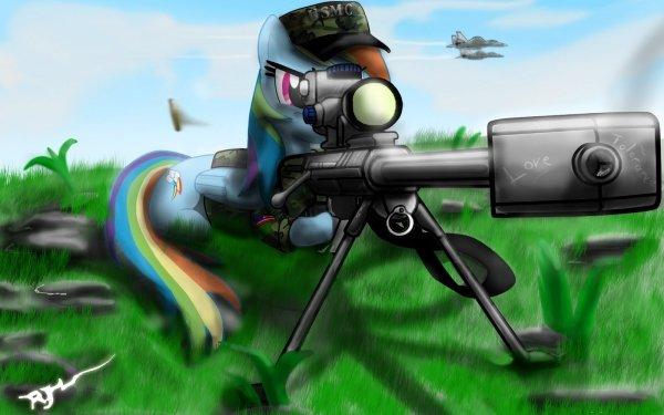 TV Show My Little Pony: Friendship is Magic My Little Pony Rainbow Dash Gun HD Wallpaper | Background Image