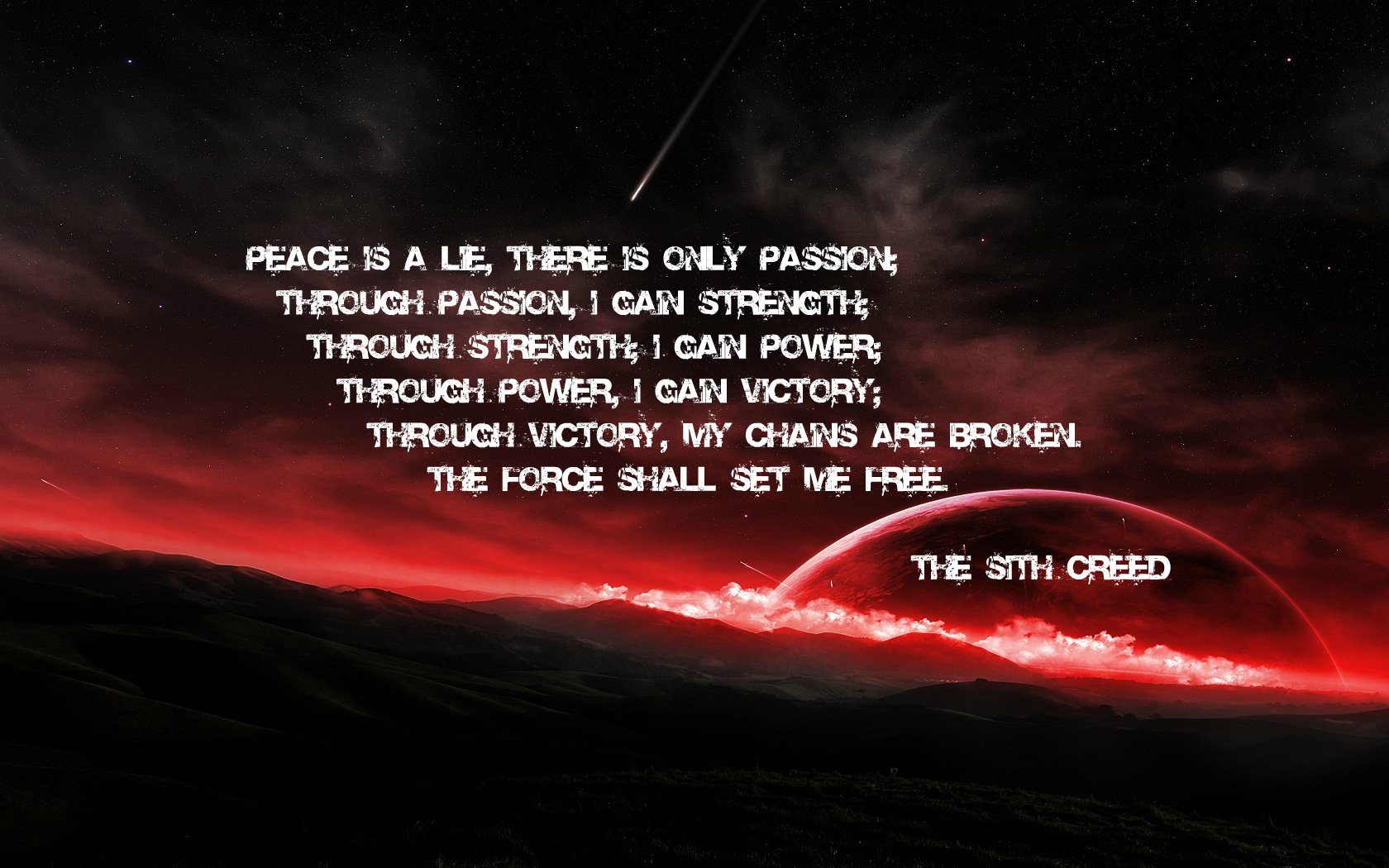 Sith creed computer wallpapers desktop backgrounds - Star wars quotes wallpaper ...