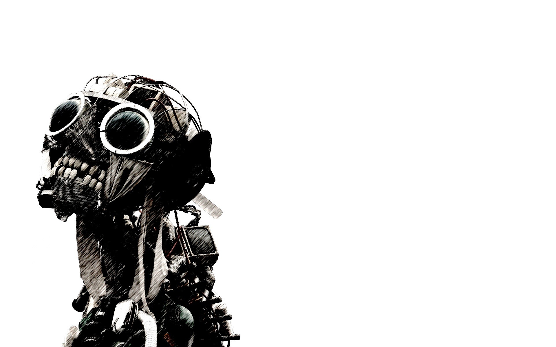 Sci Fi - Dark  - Zombie - Monster - Mask Wallpaper