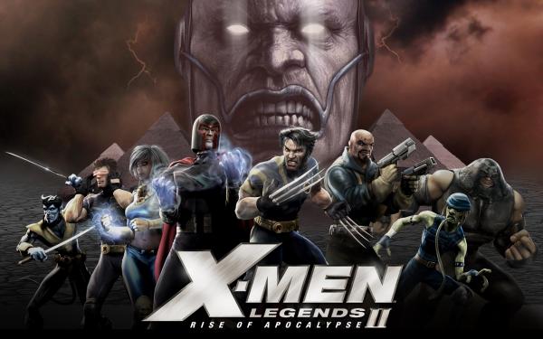 Video Game X-Men Legends II: Rise of Apocalypse X-Men Wolverine Cyclops Nightcrawler Magneto Apocalypse Storm Toad Juggernaut Bishop HD Wallpaper | Background Image