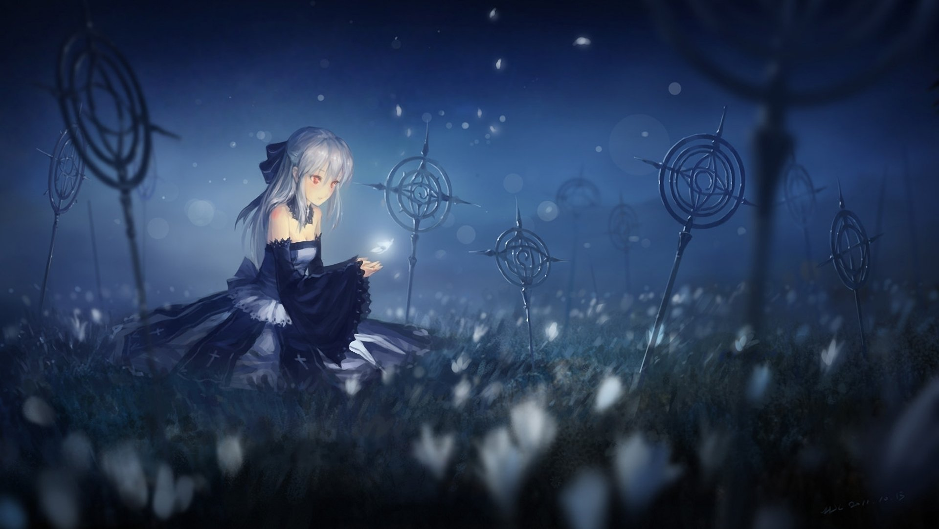 Pixiv fantasia hd wallpaper background image 1920x1083 for Sfondi spazio hd