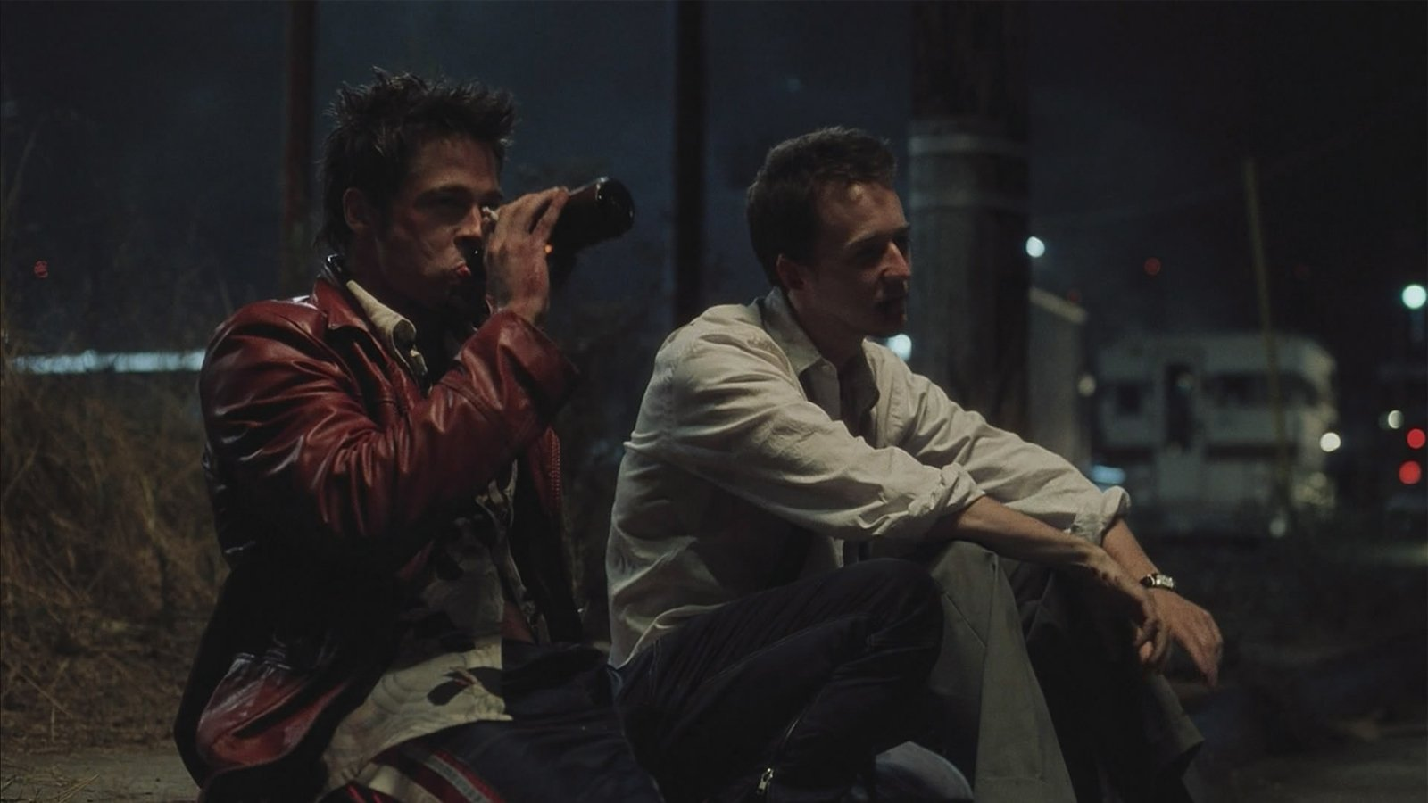 Movie - Fight Club  Movie Brad Pitt Edward Norton Wallpaper