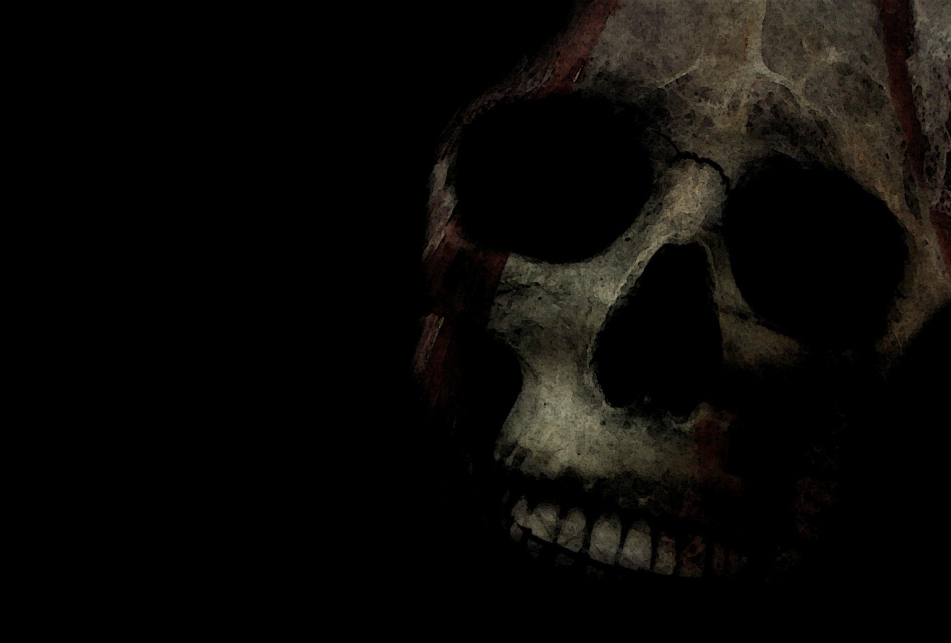 monster skull black wallpaper - photo #9