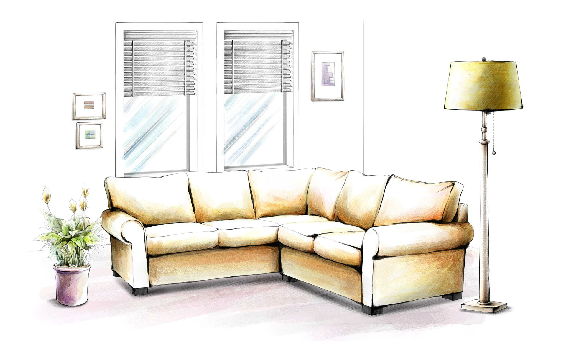 Furniture full hd wallpaper and background image for Interior designs sketches