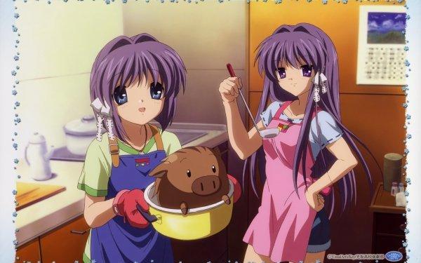 Anime Clannad Ryou Fujibayashi Kyou Fujibayashi Botan HD Wallpaper | Background Image