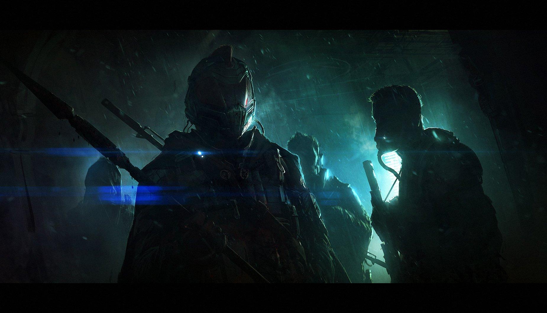 Sci Fi - Warrior  Dark Wallpaper