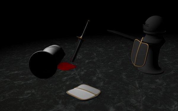 Artistique 3D Art Image de Synthèse 3D Abstrait Echecs Fond d'écran HD   Image