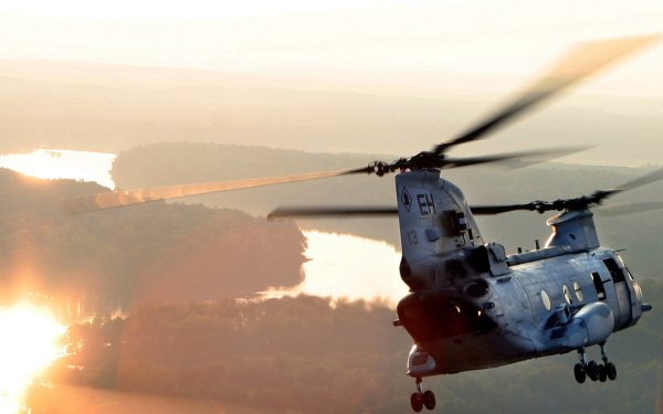 Military Boeing Vertol CH-46 Sea Knight Military Helicopters Ch-46 Sea Knight HD Wallpaper | Background Image