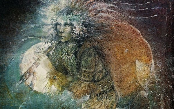 Artistic Native American Deity Kokopelli HD Wallpaper | Background Image