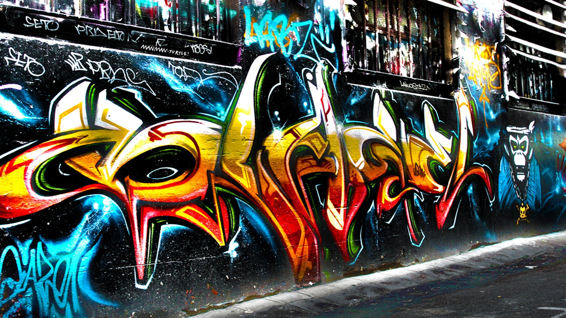 Artistic - Graffiti  Trippy Psychedelic Urban Urban Art Wallpaper