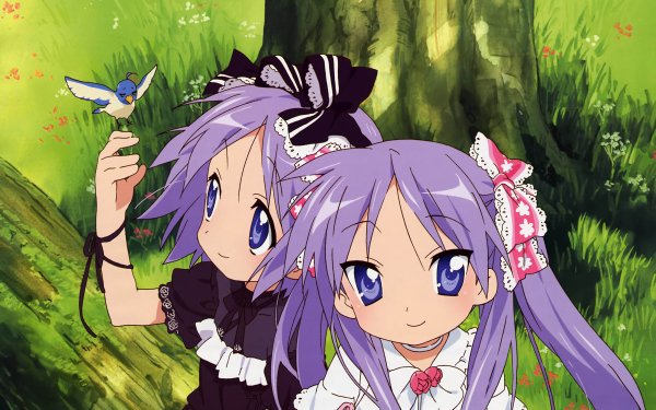 Anime Lucky Star Kagami Hiiragi Tsukasa Hiiragi HD Wallpaper | Background Image