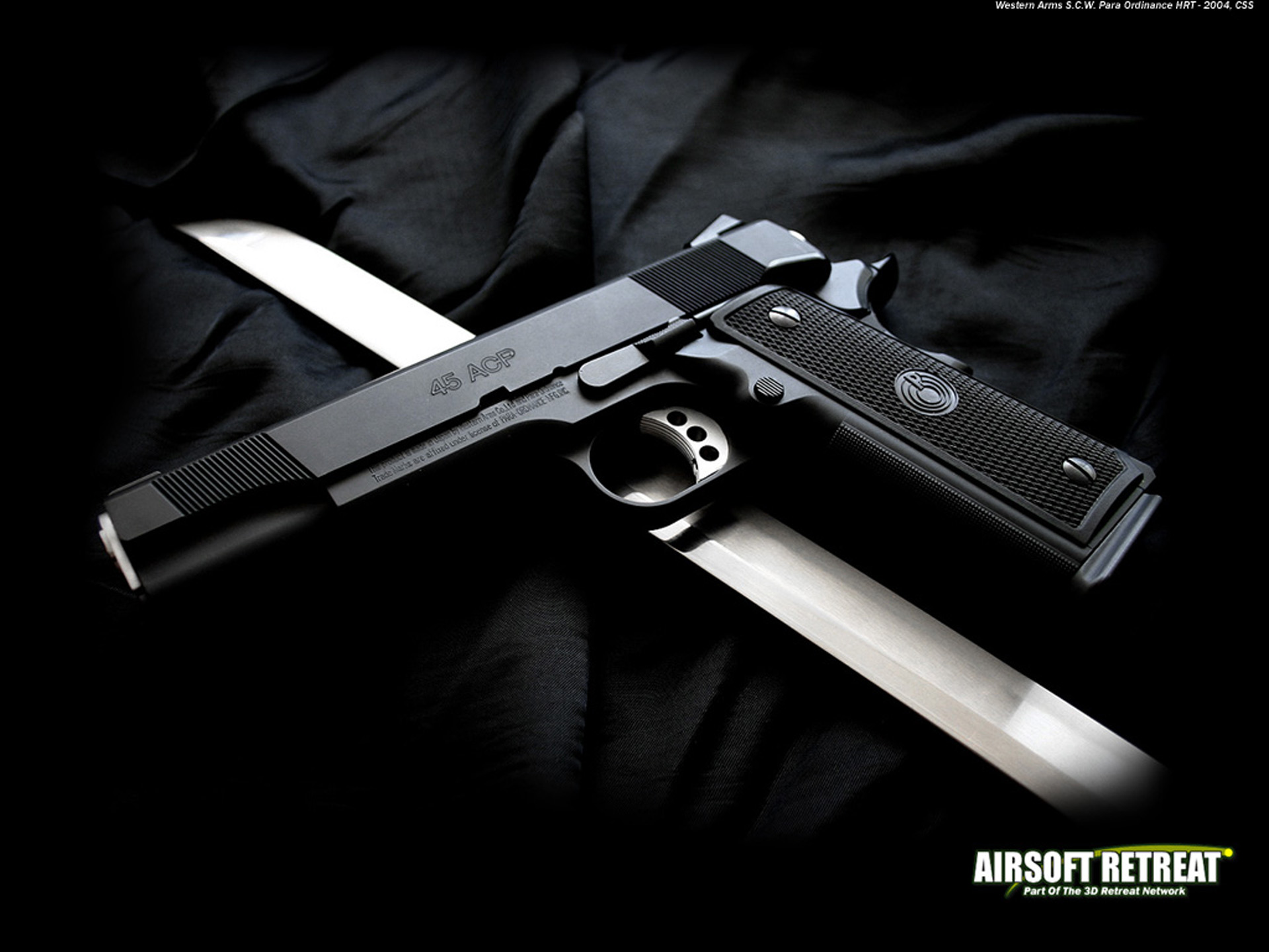 Airsoft Pistol Full HD Wallpaper And Background Image